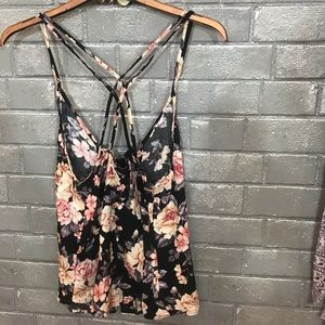 American Eagle Outfitters Tops - american eagle // peach rose floral print cami s